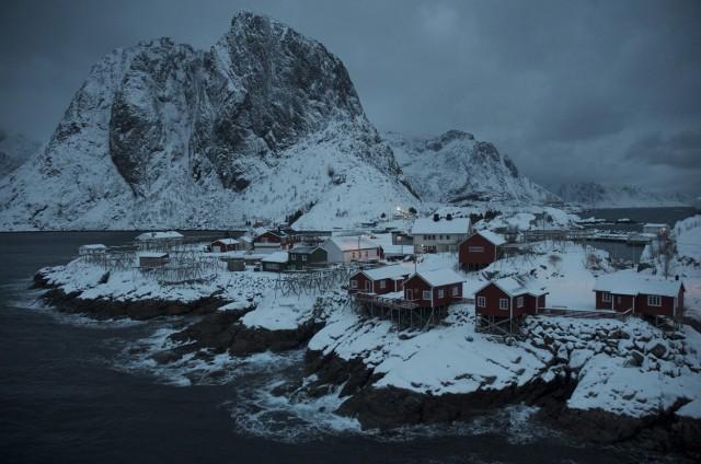 Aldea de pescadores (Rorbuer) en las Islas Lofoten  (© Mia Bennett/National Geographic Photo Contest).